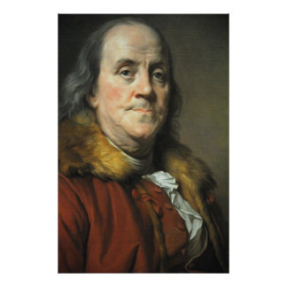 BENJAMIN FRANKLIN by Joseph Siffred Duplessis Print