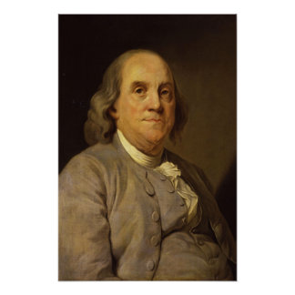 Benjamin Franklin by Joseph Siffred Duplessis Poster