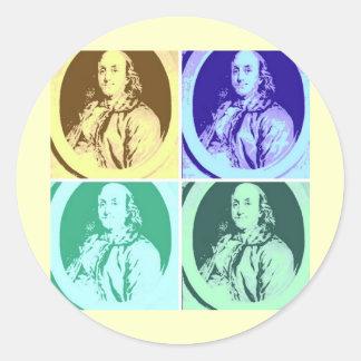 Benjamin Franklin Classic Round Sticker