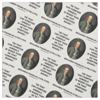 Benjamin Franklin Composes Himself Wiser Books Fabric