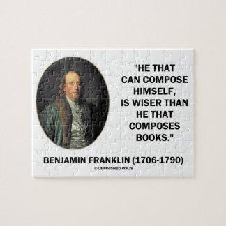 Benjamin Franklin Composes Himself Wiser Books Puzzle