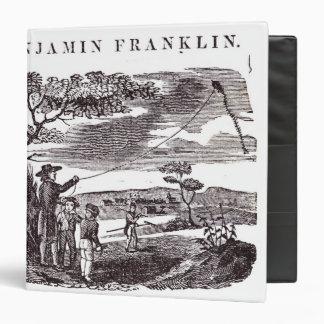 """Benjamin Franklin conduce su experimento de la Carpeta 1 1/2"""""""