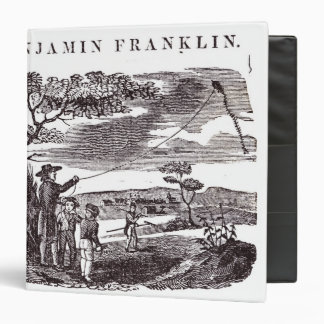 Benjamin Franklin  Conducts his Kite Experiment 3 Ring Binder
