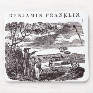 Benjamin Franklin  Conducts his Kite Experiment Mouse Pad
