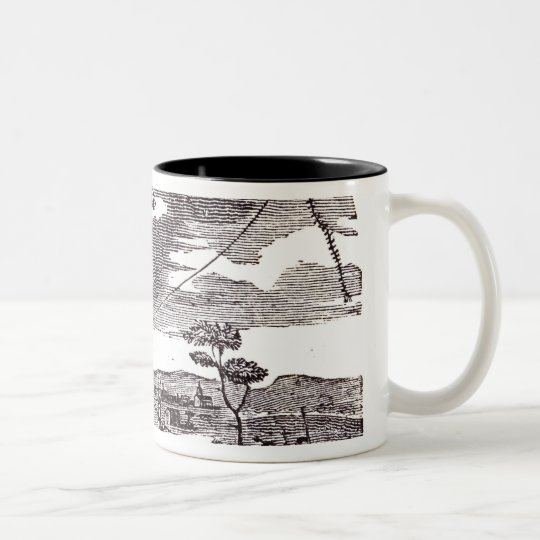 Benjamin Franklin  Conducts his Kite Experiment Two-Tone Coffee Mug