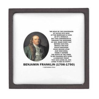 Benjamin Franklin Conversion Of Water Into Wine Premium Trinket Box