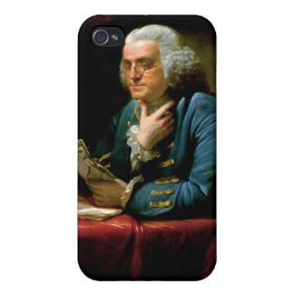Benjamin Franklin de David Martin hecho en 1767 iPhone 4 Carcasas