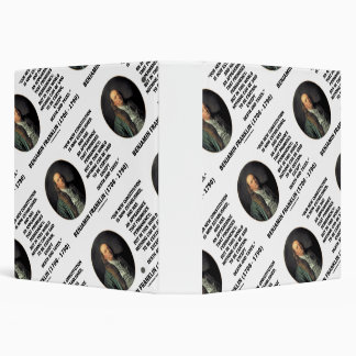 Benjamin Franklin Death Taxes Quote 3 Ring Binder