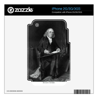 Benjamin Franklin Decals For iPhone 3G
