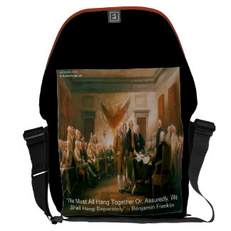 Benjamin Franklin & Declaration Of Independence Messenger Bag