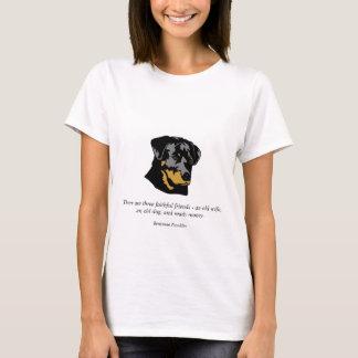 Benjamin Franklin Dog Quote T-Shirt