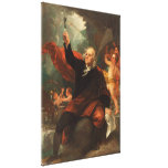 Benjamin Franklin Drawing Electricity from the Sky Stretched Canvas Prints