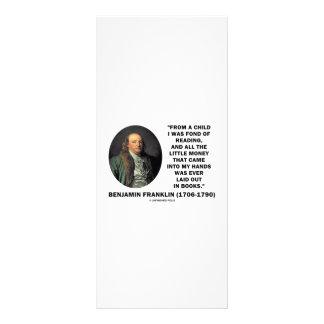 Benjamin Franklin encariñado con cita del dinero d Lona Publicitaria