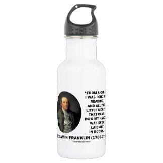 Benjamin Franklin encariñado con cita del dinero