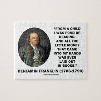 Benjamin Franklin encariñado con cita del dinero Rompecabeza
