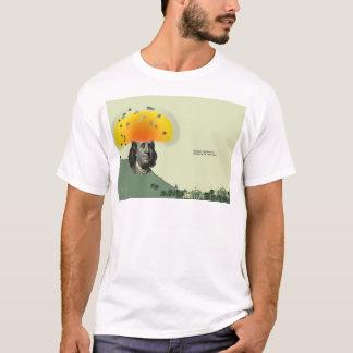 """Benjamin Franklin Erupts"", 2000 T-Shirt"