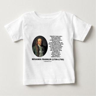 Benjamin Franklin Evaluating Probabilities Quote Baby T-Shirt