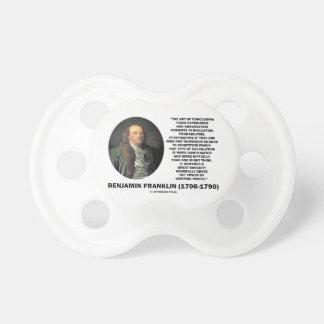 Benjamin Franklin Evaluating Probabilities Quote Pacifier