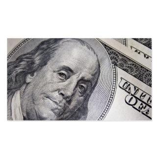 Benjamin Franklin Face Business Card Template