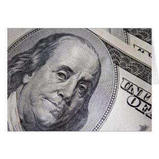 Benjamin Franklin Face Stationery Note Card