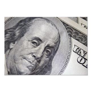 Benjamin Franklin Face Personalized Invitations