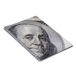 Benjamin Franklin Face Spiral Notebooks