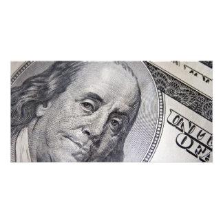 Benjamin Franklin Face Custom Photo Card