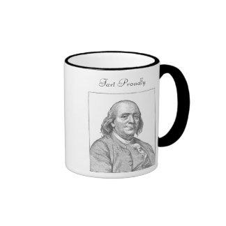 Benjamin Franklin Fart orgulloso taza