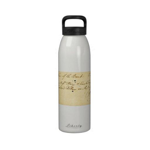 Benjamin Franklin firmó control el 2 de octubre de Botella De Beber