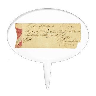 Benjamin Franklin firmó control el 2 de octubre de Decoraciones De Tartas