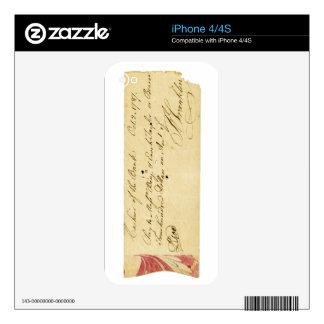 Benjamin Franklin firmó control el 2 de octubre de iPhone 4S Skins
