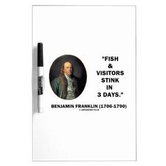 Benjamin Franklin Fish & Visitors Stink In 3 Days Dry Erase Whiteboards