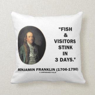 Benjamin Franklin Fish & Visitors Stink In 3 Days Pillows