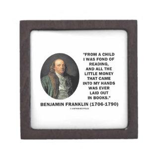 Benjamin Franklin Fond Of Reading Money Quote Premium Gift Boxes