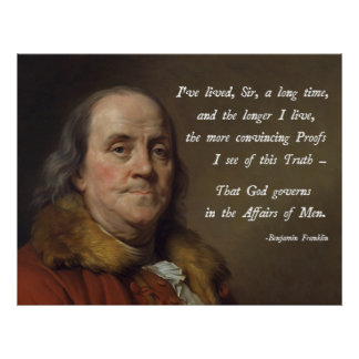 Benjamin Franklin God Poster