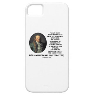 Benjamin Franklin Great Advantages Invention Quote iPhone 5 Case