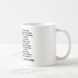 Benjamin Franklin Great Advantages Invention Quote Coffee Mug