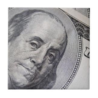 Benjamin Franklin hace frente Azulejo Cuadrado Pequeño