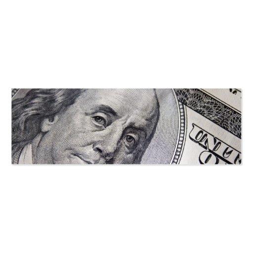 Benjamin Franklin hace frente Tarjetas De Visita