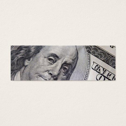 Benjamin Franklin hace frente Tarjeta De Visita Pequeña