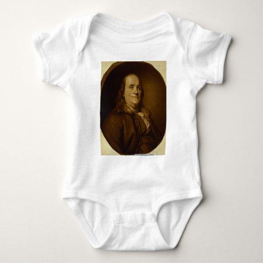 Benjamin Franklin Head and Shoulders Portrait Baby Bodysuit
