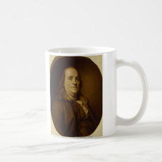 Benjamin Franklin Head and Shoulders Portrait Coffee Mug
