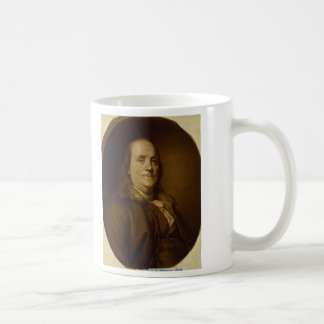 Benjamin Franklin Head and Shoulders Portrait Mugs