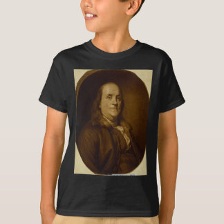 Benjamin Franklin Head and Shoulders Portrait T-Shirt