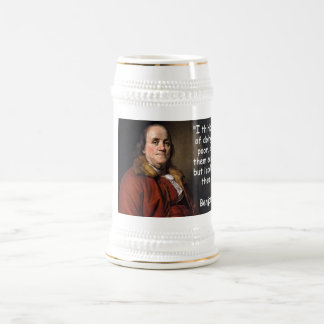 Benjamin Franklin - Helping The Poor Beer Stein