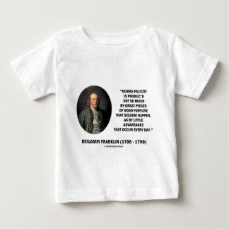 Benjamin Franklin Human Felicity Advantages Quote Shirt