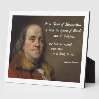 Benjamin Franklin Jesus Plaque