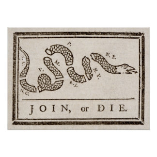 Benjamin Franklin Join or Die Cartoon Print