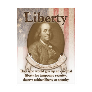 Benjamin Franklin – Liberty Canvas Print
