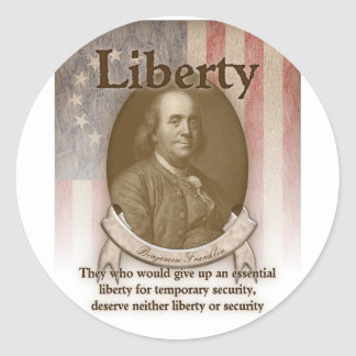 Benjamin Franklin – Liberty Classic Round Sticker